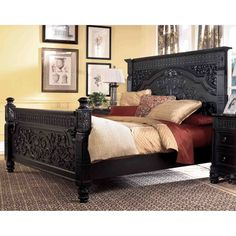 Britannia Rose King Panel Bed by Ashley Furniture: Home White Leather Bedroom Furniture, Bedroom Furniture Sets, Bed Furniture, Bedroom Sets, Bedroom Decor, Master Bedrooms, Unique Furniture, Rose Bedroom, Bedroom Images
