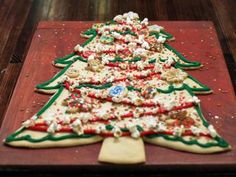 Christmas Tree Cookie Cake