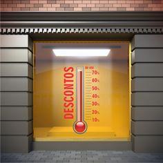 Retail Windows, Store Windows, Black Friday, Window Display Design, Window Displays, Directional Signage, Thermometer, Sale Store, Showcase Design