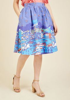 Dockside Delight A-Line Skirt