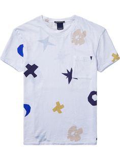 All-Over Printed T-Shirt   T-shirts ss   Men Clothing at Scotch & Soda