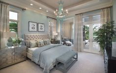 38 Lovely Romantic Master Bedroom Decorating Ideas - On the off chance that you are worn out on your master bedroom, you can join a couple of changes that have a major effect. Romantic master bedroom ins. Coastal Master Bedroom, Romantic Master Bedroom, Coastal Bedrooms, Master Bedroom Design, Luxurious Bedrooms, Beautiful Bedrooms, Dream Bedroom, Home Decor Bedroom, Modern Bedroom