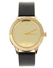classy black & gold watch