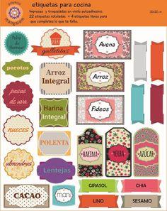 etiquetas para condimentos de cocina - Buscar con Google Kitchen Labels, Soup Kitchen, Book Labels, Printable Labels, Free Printables, Dyi Decorations, Food Gift Baskets, Kitchen Photos, Kitchen Ideas