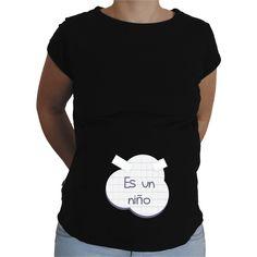 Camiseta para embarazada Divertida - Posit es una niño.