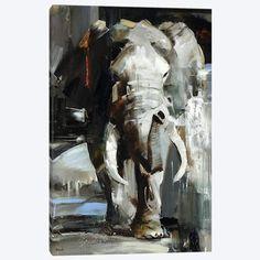 The Braveheart Canvas Print by Tatyana Yabloed Canvas Art Print Wildlife Paintings, Wildlife Art, Animal Paintings, Elephant Blanket, Elephant Art, Canvas Art Prints, Canvas Wall Art, Fine Art Prints, Palette Knife Painting