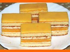 Sunquickové šťavnaté rezy Slovak Recipes, Czech Recipes, Russian Recipes, Sweet Desserts, Sweet Recipes, Traditional Cakes, Cake Bars, Sweets Cake, Desert Recipes