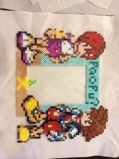 Kingdom Hearts Perler bead picture frame