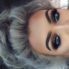 20 Hottest Smokey Eye Makeup Ideas - F . - 20 hottest smokey eye makeup ideas – fashiotopia, # hottest up - Cute Makeup, Gorgeous Makeup, Pretty Makeup, Cheap Makeup, Black Makeup Looks, Fancy Makeup, 90s Makeup, Prom Makeup Looks, Makeup Style