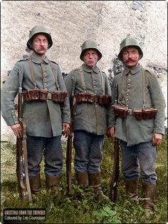 A trio of Bavarian infantrymen from Kgl. Bayer. Landwehr-Infanterie-Regiment Nr. 8 on 22nd of August 1917.