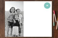 Add a photo to create special notecards.  A great gift for anybody!  #giftideas #stationery #harvardhomemaker