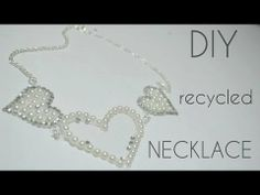 DIY : Recycled Statement Necklace - YouTube
