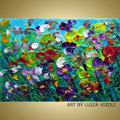Black Friday Sale 40 off Oil Painting Impasto by LUIZAVIZOLI, $64.84