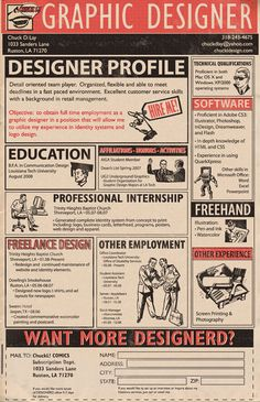Chuck D. Lay's Resume #resume #design #inspiration