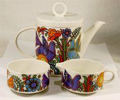 3pc Vintage Villeroy and Boch - ACAPULCO TEA POT & SUGAR BOWL & MILK POURER   eBay