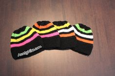 Knitted Licorice Allsorts Inspired Hat Beanie PATTERN ALERT! | AuntyNise.com