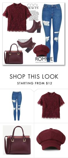 """Romwe 2"" by miincee ❤ liked on Polyvore featuring Topshop"