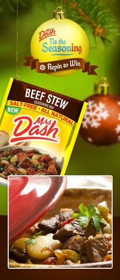 It's time to deck the halls with salt-free flavor!  Follow Mrs. Dash & repin your favorite Seasoning Mix Packet for a chance to win all 10 flavors & $100 to help you complete the perfect holiday party. (View board description for Official Rules, promotion ended on 12/16).