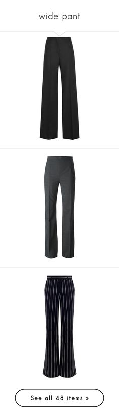 """""""wide pant"""" by mia-christine ❤ liked on Polyvore featuring pants, black, high waist pants, high-waist trousers, m missoni pants, wide leg pants, high waisted wide leg trousers, trousers, grey and high rise wide leg pants"""