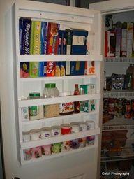pantry organization for Ziploc bags and saran wrap, etc.