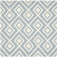 cool Safavieh Handmade Moroccan Chatham Blue/ Ivory Wool Area Rug (7' Square)