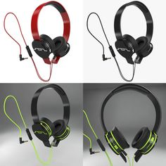 SOL Republic Headphones Music Audio Electronics Sol Republic Red Sound Detailed Modeling: Max 2012 Rendering: V-Ray Polygons: 18 295 Vertices: 20 755 Music Headphones, 3ds Max, Headset, Modeling, Audio, Electronics, Digital, Red, Headphones