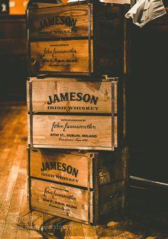 Boxes Jameson Whisky by SamiHelenius Commercial Photography Irish Pub Decor, Jameson Distillery, Whiskey Room, Vintage Safari, Jameson Irish Whiskey, Whisky Bar, Pub Design, Alcohol Bottles, Drinks Alcohol Recipes