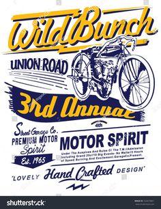 illustration retro race motor for printing