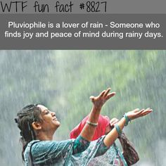 Pluviophile - WTF fun facts