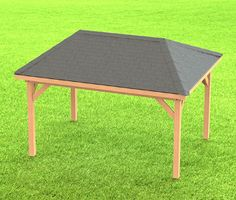 Hip Roof Gazebo Building Plans-Perfect for Hot Tubs - 10' x 14'