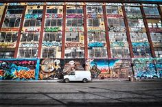 5 Pointz, a seemingly derelict warehouse on Davis St. in Long Island City,