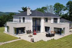 Self-builders around the world are creating energy-efficient homes to ensure low running costs. In Ireland, a certification benchmark is Passivhaus. Dream Home Design, Modern House Design, House Designs Ireland, L Shaped House, Energy Efficient Homes, Energy Efficiency, Ireland Homes, Modern Architecture House, Pavilion Architecture