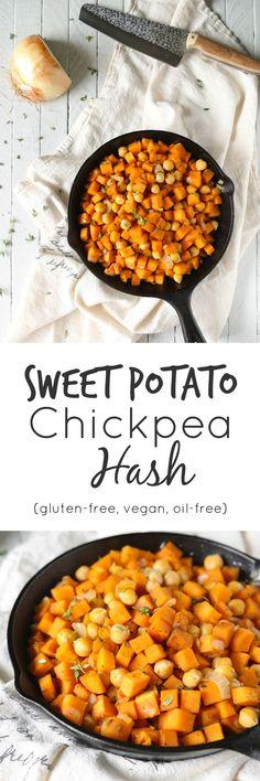 Oil-Free Sweet Potato Chickpea Hash | Gluten-Free, Vegan | The Plant Philosophy