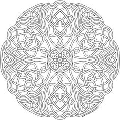 knotwork flower coloring page