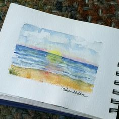 The Ocean, watercolor, Tisha Sheldon
