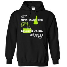 (NHXanhChuoi001) Just A New ᐅ Hampshire Girl In A ᗑ Pennsylvania WorldIn a/an name worldt shirts, tee shirts