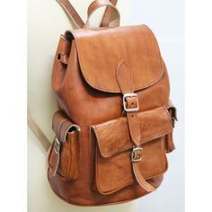 Vintage Leather backpack for women rucksack by neovintagebags