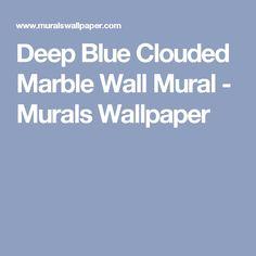 Deep Blue Clouded Marble Wall Mural - Murals Wallpaper