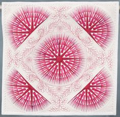"""Another amazing quilt - 11.75 inches square! At the 2009 IQA Houston show - First place in the 'Miniature Quilt' category - """"Mission: Impossible 2"""" by Kumiko Frydl, of Houston, Texas, USA."""
