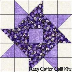 Scrappy Fabric Whirlygig Pinwheel Easy Patchwork Pre-Cut Quilt Blocks Squares Top Kit