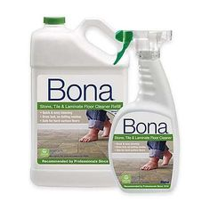 Keep your floors clean with the Bona Stone, Tile, and Laminate Floor Cleaner. It even comes packaged with a 22 oz. bonus spray bottle, so you can add even more cleaning delight to your furniture to complement your floors. Deep Cleaning Tips, House Cleaning Tips, Diy Cleaning Products, Spring Cleaning, Cleaning Hacks, Cleaning Supplies, Cleaning Brick, Homemade Laminate Floor Cleaner, How To Clean Laminate Flooring