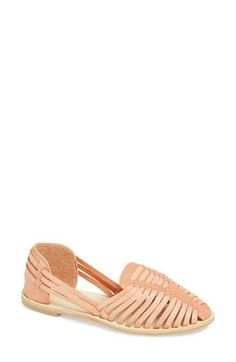 A gorgeous slip-on shoe is perfect for summer. In love with these pale pink cages sandals.
