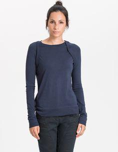 Dora Longsleeves / Women / 70% Bamboo, 30% Organic Cotton / 01/ 0072 Blu Notte - Minimal - Re-Bello