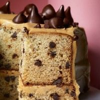 Banana-Chocolate Chip Cake with Peanut Butter Frosting - Bon Appétit
