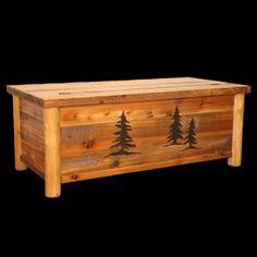 Barn Wood and Log Blanket Chest