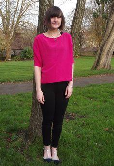 Vintage 90's Pink Silk Slouch Top £15 http:/asos.mp/bristol-saint-vintage