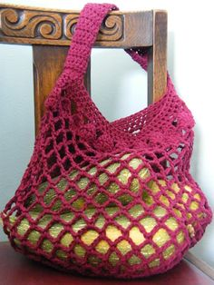 Market Bag Pattern... great for going to the framers market and such !!!