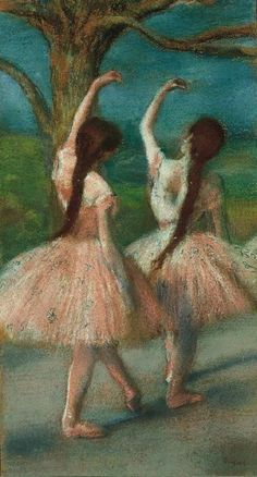 Dancers in Pink, c. 1883  Edgar Degas   The Norton Simon Foundation.. Miss this museum! Must take Abigail.