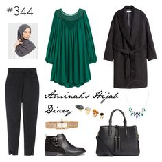 """#344 Ever Green in Life"" by aminahs-hijab-diary ❤ liked on Polyvore featuring H&M"