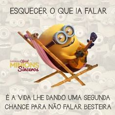 E viva a chance! Minions Images, Minions Quotes, Humor Minion, Funny Memes, Jokes, Words Worth, Funny Photos, Cool Words, Haha